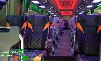 Interior Sewa Bus Pariwisata di Surabaya