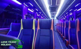 Interior Sewa Bus Pariwisata di Surabaya Terbaik