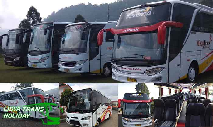 Sewa bus pariwisata Bandung Terbaru Megatrans Holiday