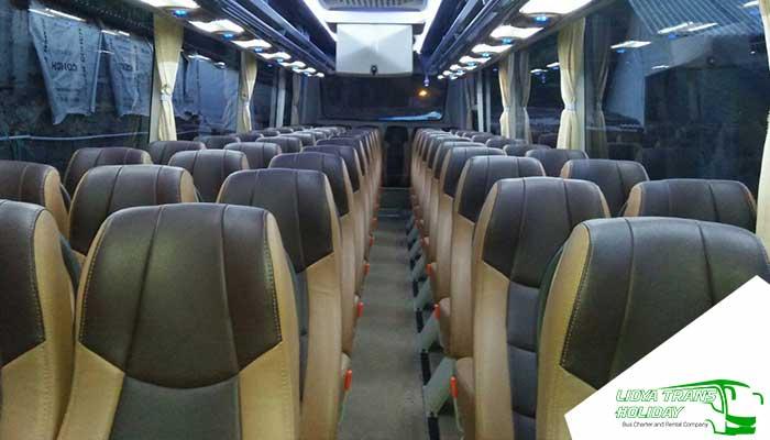 Interior Sewa Bus Pariwisata di Banjar Murah Terbaik terbaru