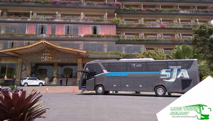 Sewa Bus Pariwisata SandHoliday di Jakarta Terbaru Murah